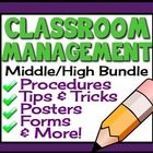 Effective classroom management is one of the biggest challenges for many middle and high school teachers.  This resource has everything a teacher n...