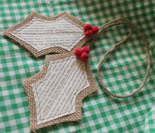 How to make burlap holly leaves | 20 North Ora