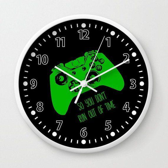 Gamer Clock, Gamer Wall Clock, Gamer Gift, Video Game Clock, Gaming Gift, Gamer Room, Dorm Room Deco