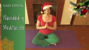 clase de yoga con meditacion-navidena, clase online gratis!