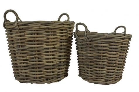 Round Rattan Log Basket Giant. A Block and Chisel Product.