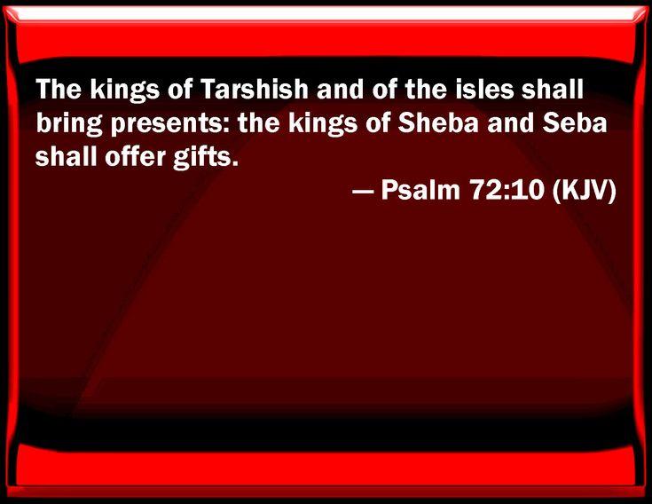 Image result for psalm 72:10 kjv