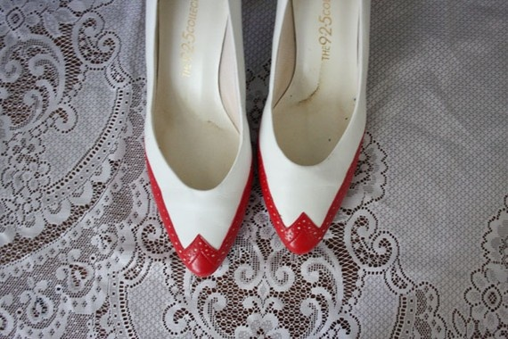 Sale // Vintage TwoTone Red and White Spectator by adVintagous, $20.00