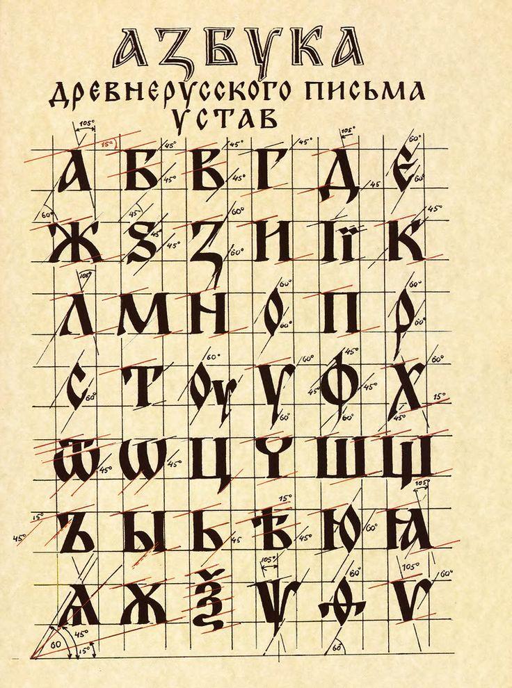 Азбука древнерусского письма уставом