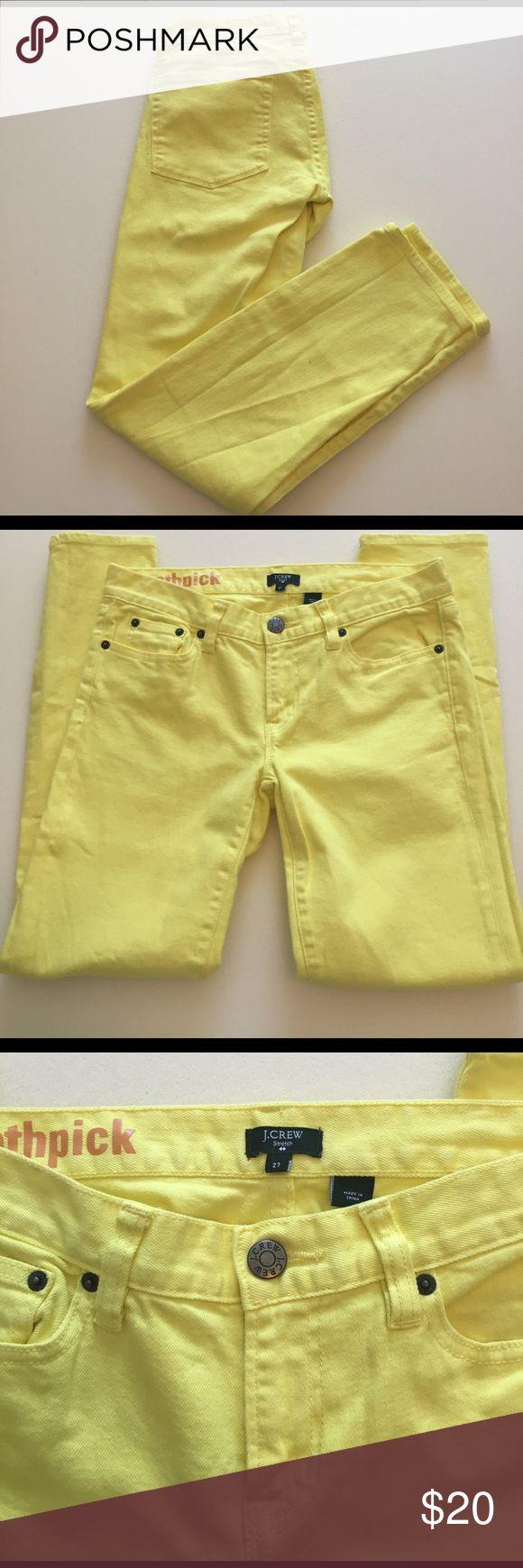 J.Crew Factory Yellow Skinny Jeans EUC, Toothpick cut, Size 27 J.Crew Factory Jeans Skinny