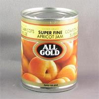 All Gold Apricot Superfine Jam is a gently pureed, satin smooth spread which enhances the delicate apricot taste. From South Africa.