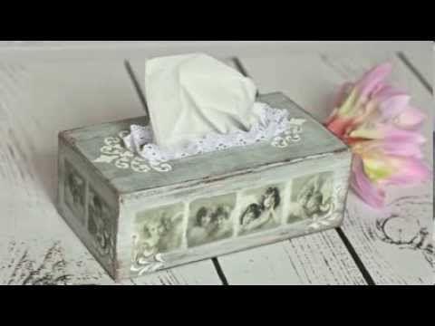 Decoupage krok po kroku - chustecznik z aniołami (zwiastun) - YouTube