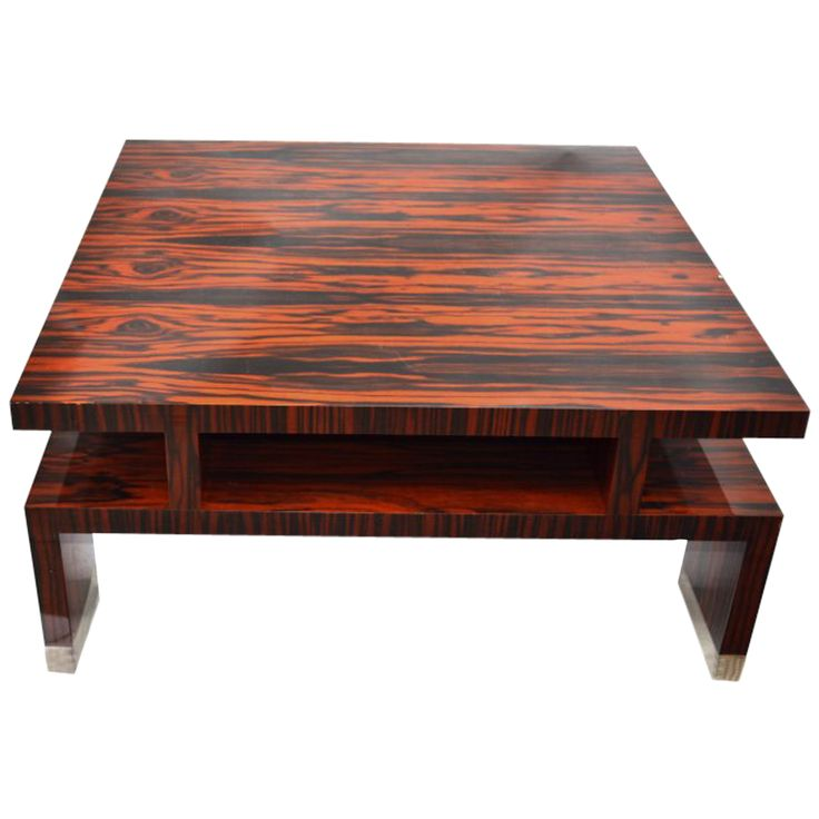 Impressive Macassar Ebony Coffee Table