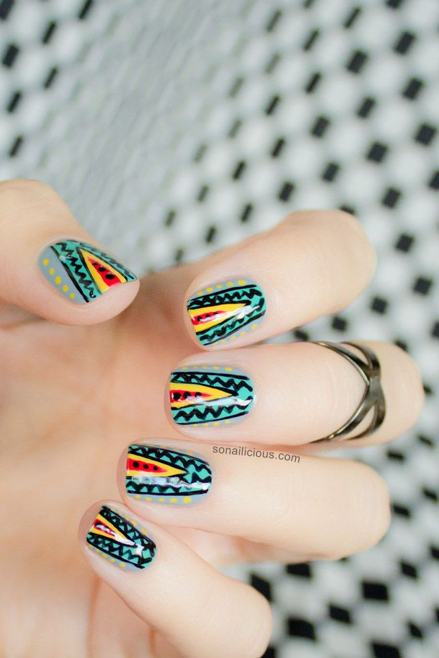 77 best Tribal Nails images on Pinterest | Tribal nails, Daily nail ...