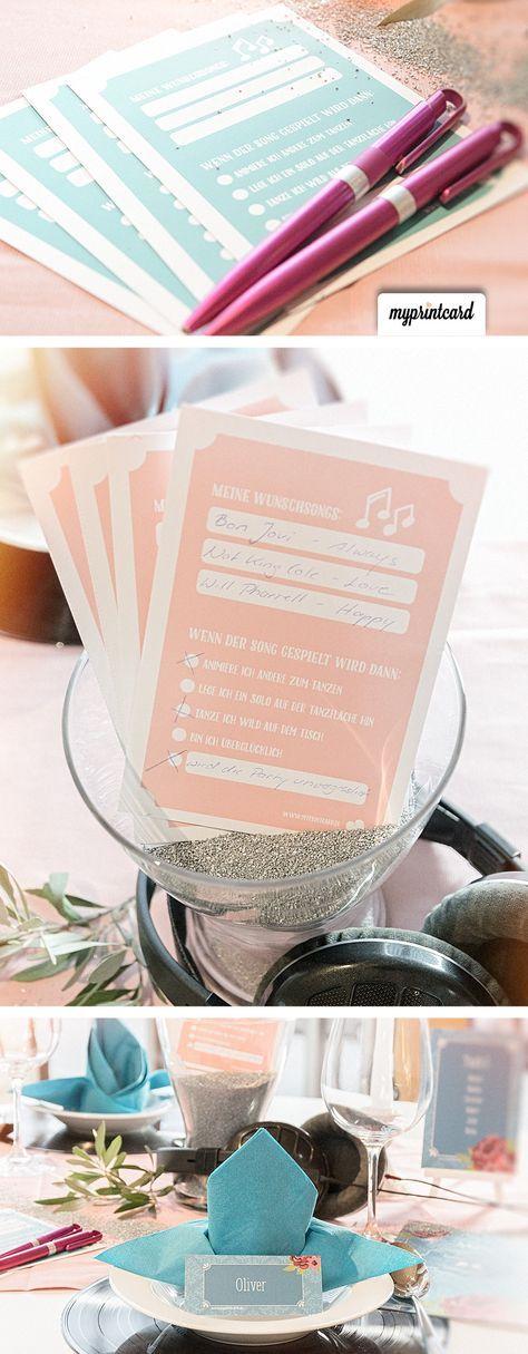 Mit Musikwunschzetteln wird die Hochzeitsparty zum Knaller!