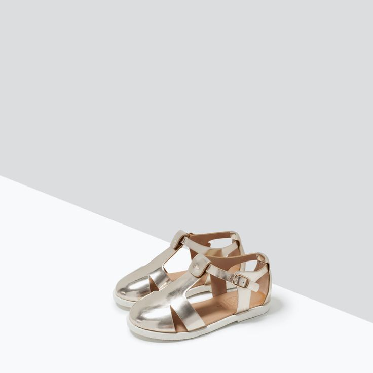 STRAPPY METALLIC SHOES-Shoes-Baby girl (3 months - 3 years)-KIDS | ZARA United States
