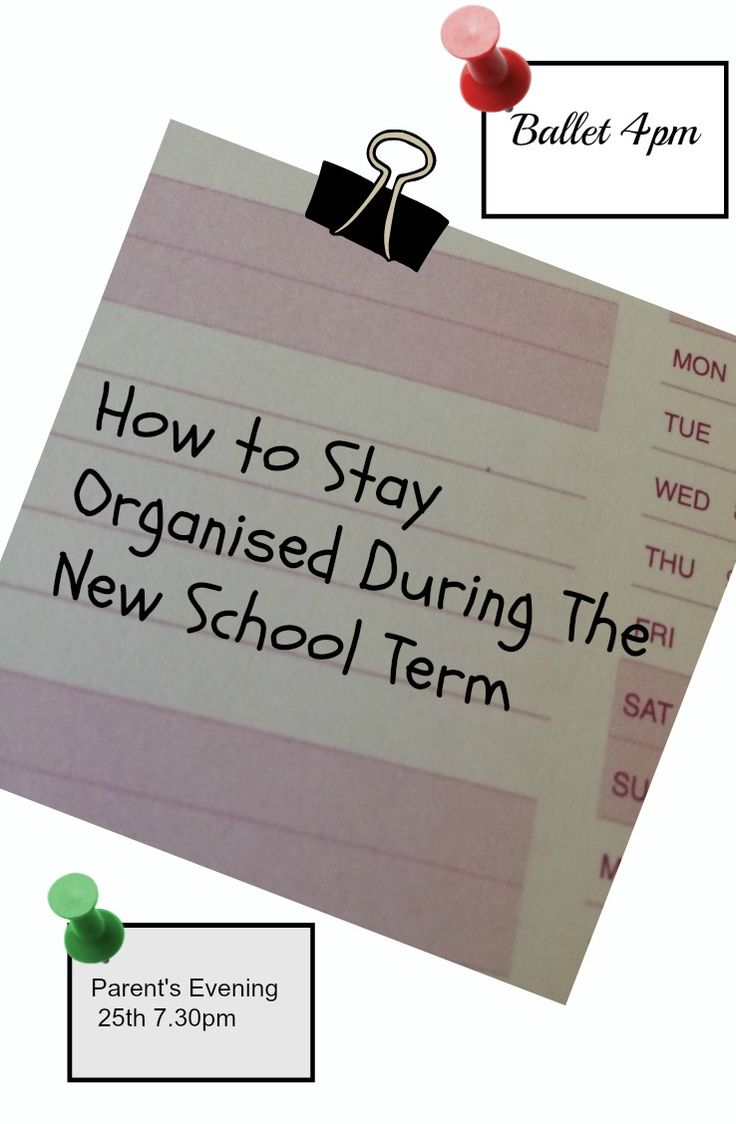 How to stay organised during the new school term