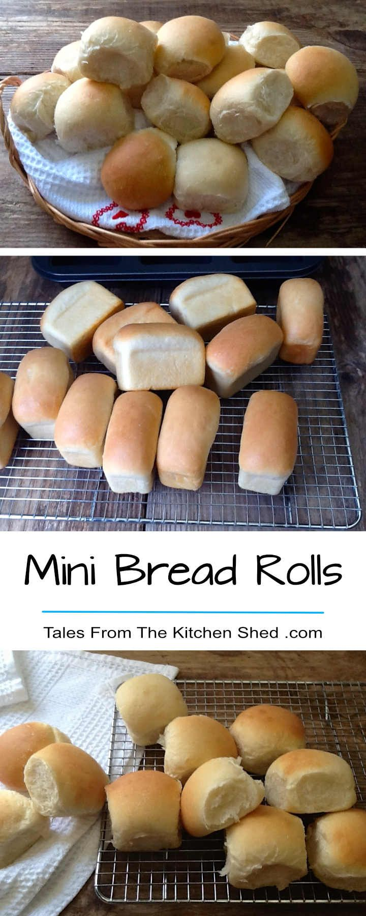 Mini Bread Rolls - you can't beat a basket of homemade rolls! The perfect size for dinner rolls, sliders, canapés & packed lunches.