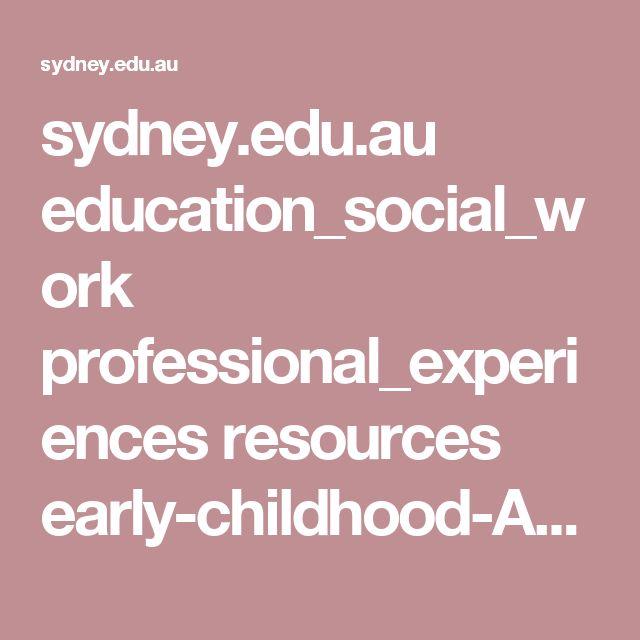 Early Childhood Australia -  Ethics -  sydney.edu.au education_social_work professional_experiences resources early-childhood-Australia-code-of-ethics.pdf