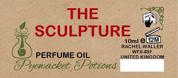 The Sculpture perfume oil  cinnamon raspberry musk
