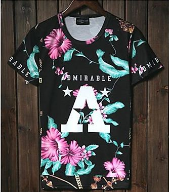 Mens Stylish New Designer Admirable Short Sleeve T-Shirt