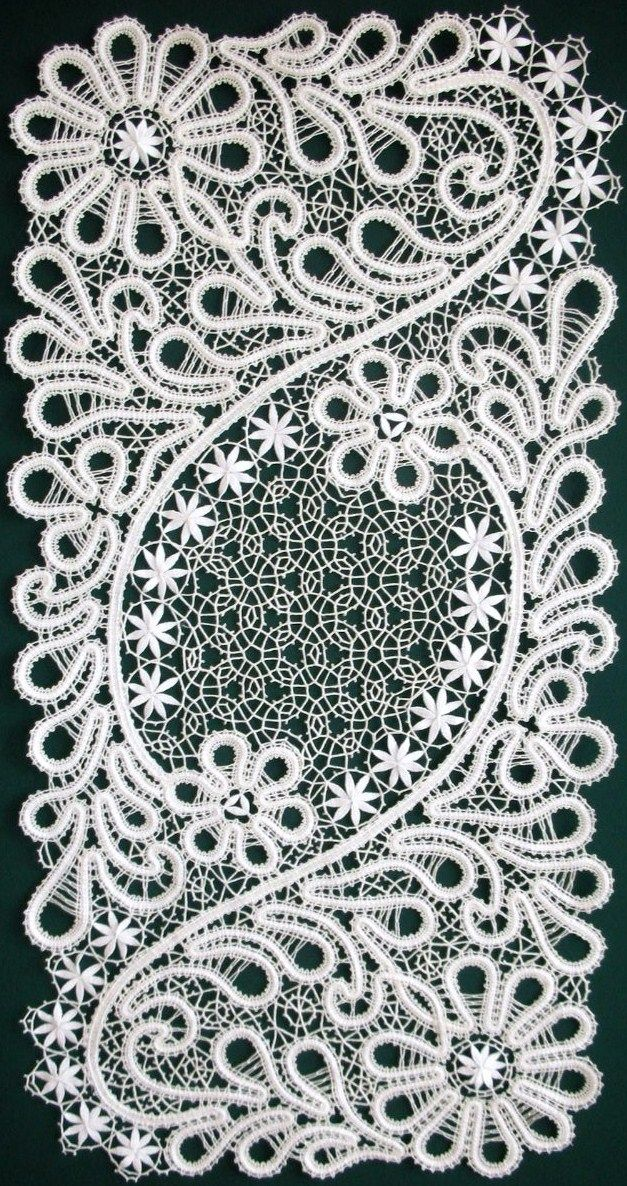 Bobbin lace from the Russian town of Vologda. #Russian #lace