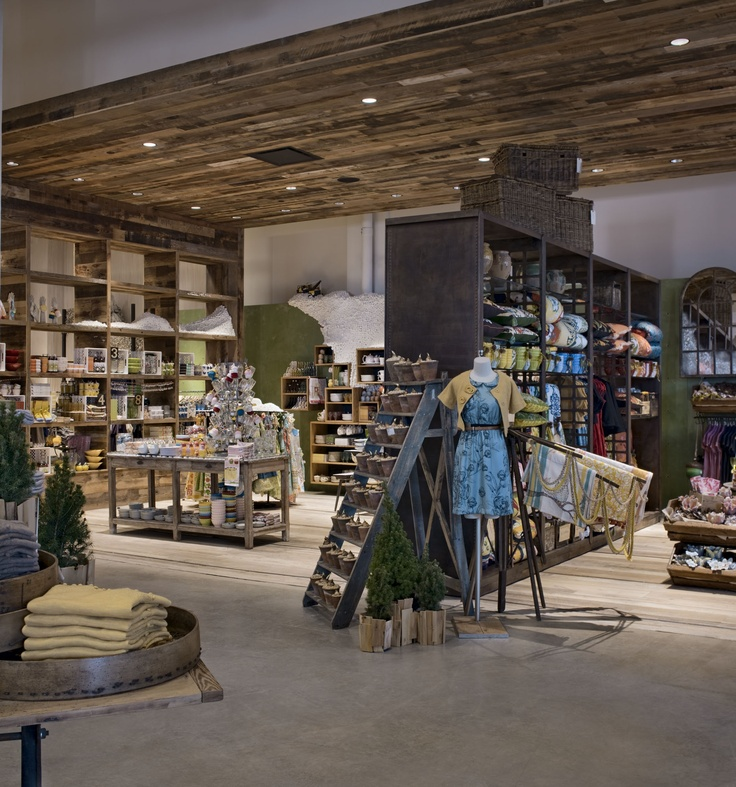 I think this is PERFECT! the shelfs and tables, plus the ceiling! Its anthropology so it still has that boutique feel