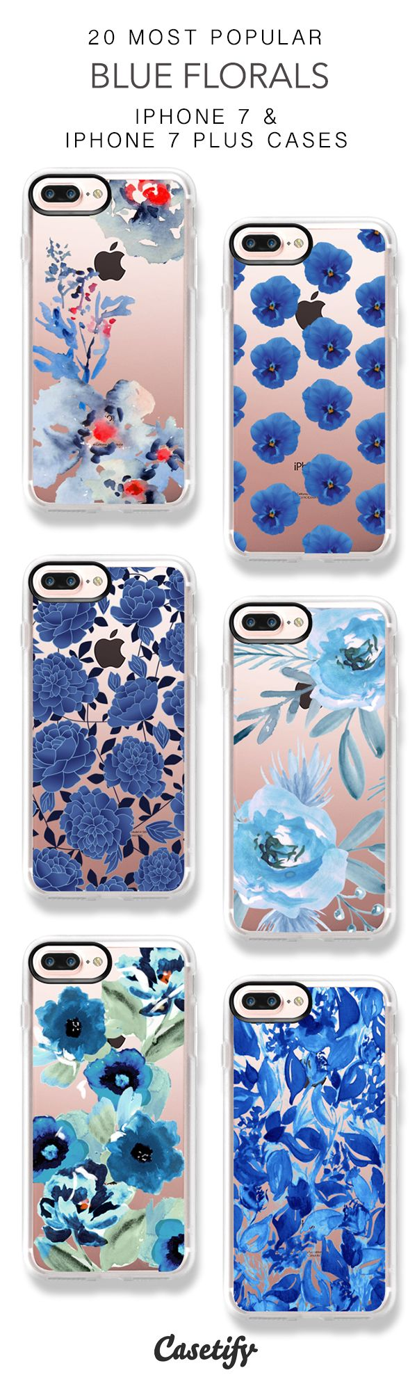 25 Most Popular Blue Florals iPhone 7 Cases and iPhone 7 Plus Cases. More Flower iPhone case here > https://www.casetify.com/collections/top_100_designs#/?vc=bwEeiSEmcg