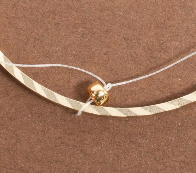 Tutorial for Inside Brick Stitch Hoop Earrings: Tie a Square Knot