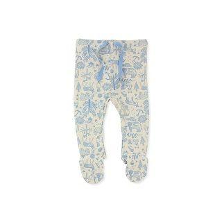 WILSON & FRENCHY BLUE LEGGINGS WITH FEET - $24.95 - 100% cotton blue rib legging with feet and soft elastic waistband. #sweetcreations #boy #baby #fashion #designer #wilson&frenchy