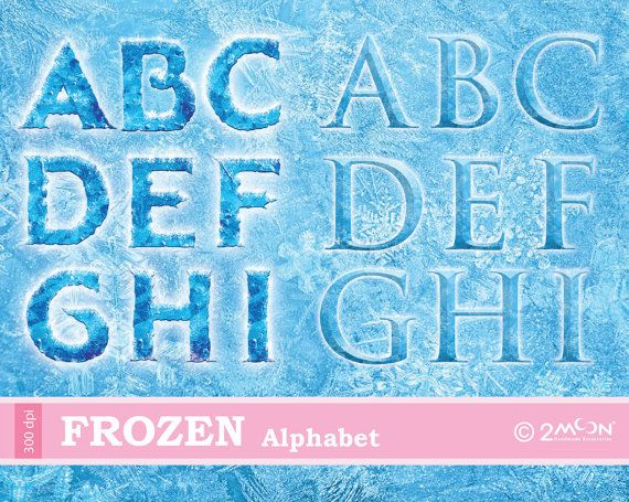 Frozen Alphabet PNG x 2 FONTs 300 DPI by 2moon on Etsy, $5.00 | Frozen ...