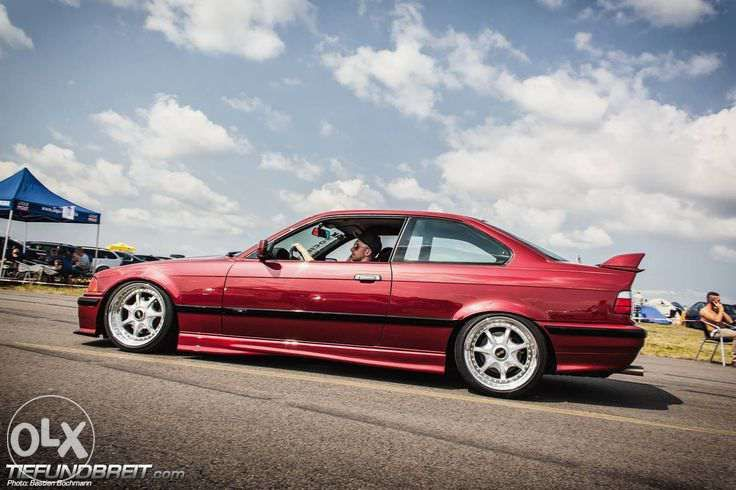 Bordeaux Bmw E36 Coup 233 On Oem Bmw Bbs Rt Wheels Bmw Pinterest E36