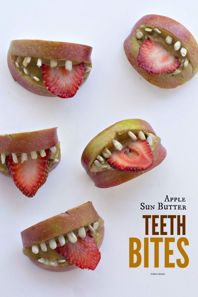 Creepy yet delightful, these HEALTHY teeth snacks are perfect for the kids this Halloween.