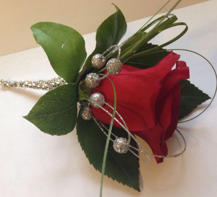 Win & Jim flowers # red rose button hole