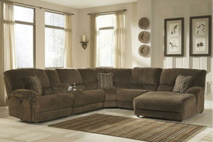 Pivot Point Truffle Reclining Sectional With Storage Raf Chaise By Signature Design Ashley Miskelly Furniture Sofa