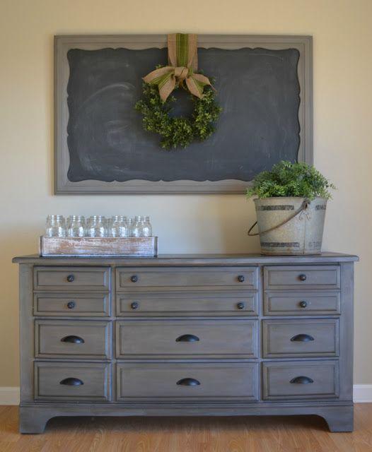 Zink Dresser/buffet with chalk board above