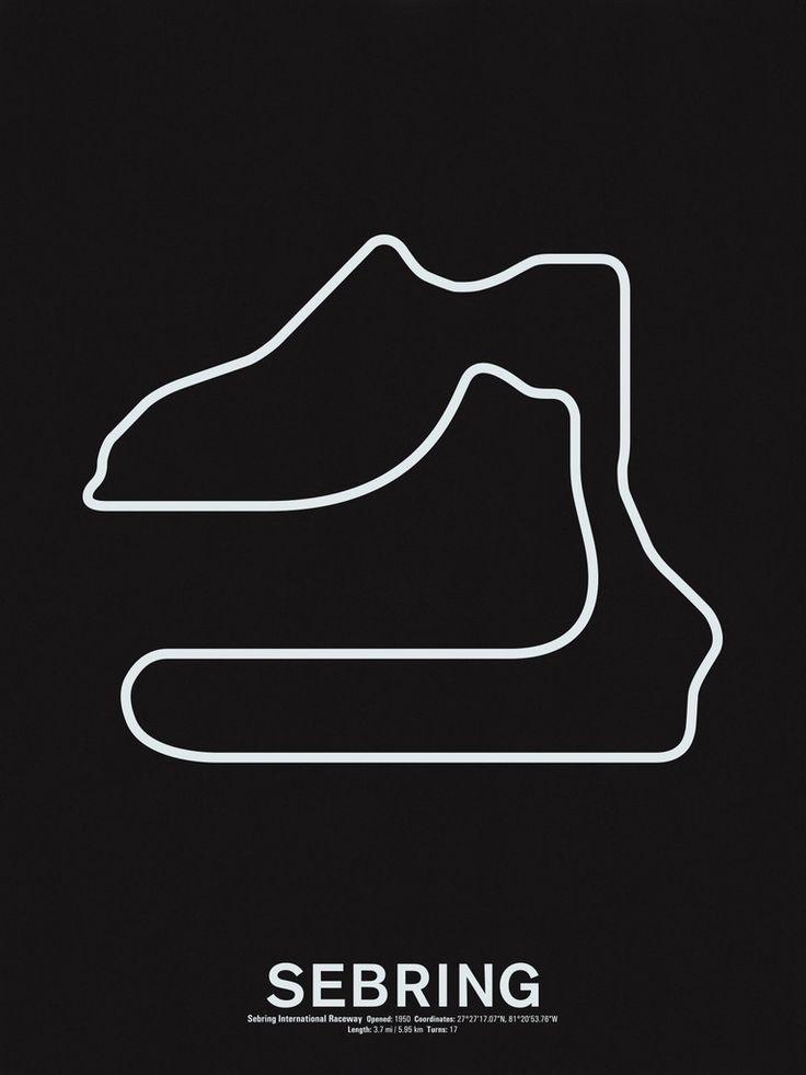 Sebring International Raceway Screenprint – NOMO Design