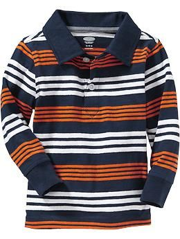 Long-Sleeve Striped Polos for Baby 6