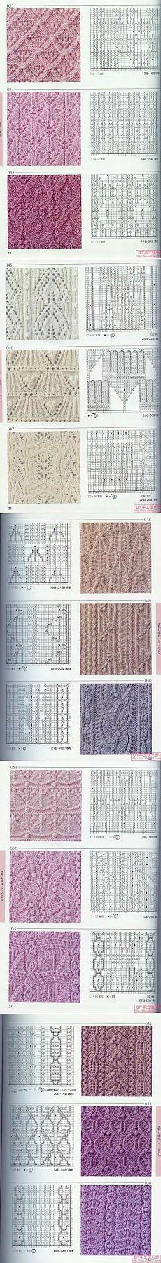 вязание спицами, рисунки от япошек