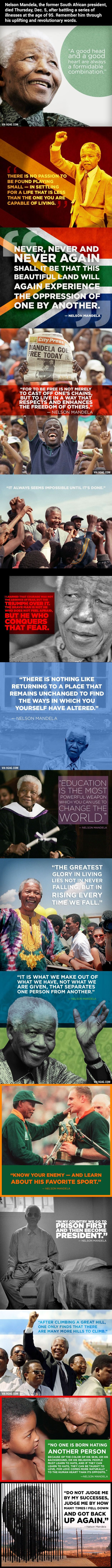 15 Most Inspiring Quotes By Nelson Mandela #nelsonmandela #quotes #inspiring