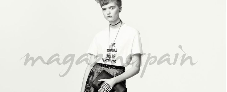 """La camisa feminista """"We should all be feminists"""" (""""Todos deberíamos ser feministas"""") de Dior se ha convertido en viral gracias a diferentes famosas que han posado con la camiseta: Rihanna, Jennifer Lawrence, Chiara Ferragni, Natalie Portman,…"""