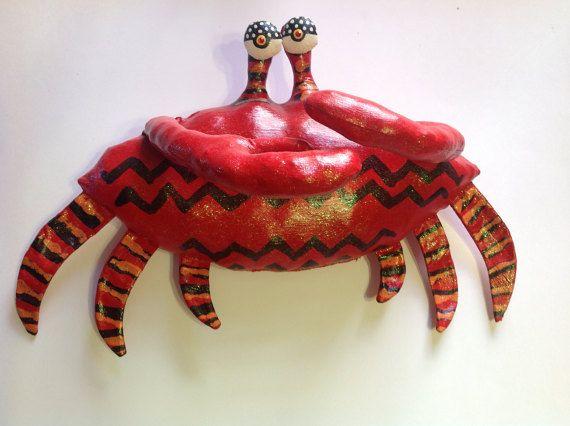 Gran cangrejo de concha blanda-escultura