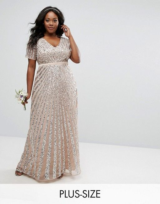0d6f6161d0e Maya Plus Sequin All Over Maxi Dress in 2018