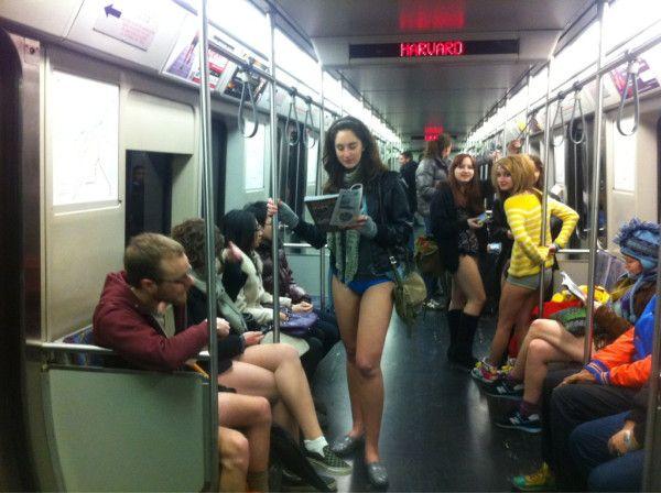 Next stop Harvard Square for the No Pants Subway Ride!!! DiscoverHavardSquare.com.