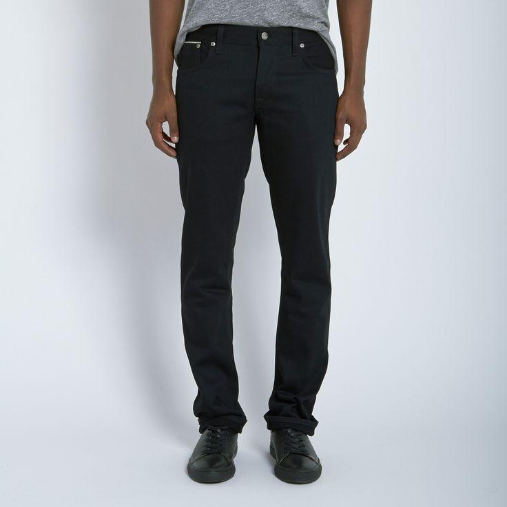 Nudie Jeans Co Grim Tim Jean in Dry Black Selvedge L34 | Atrium