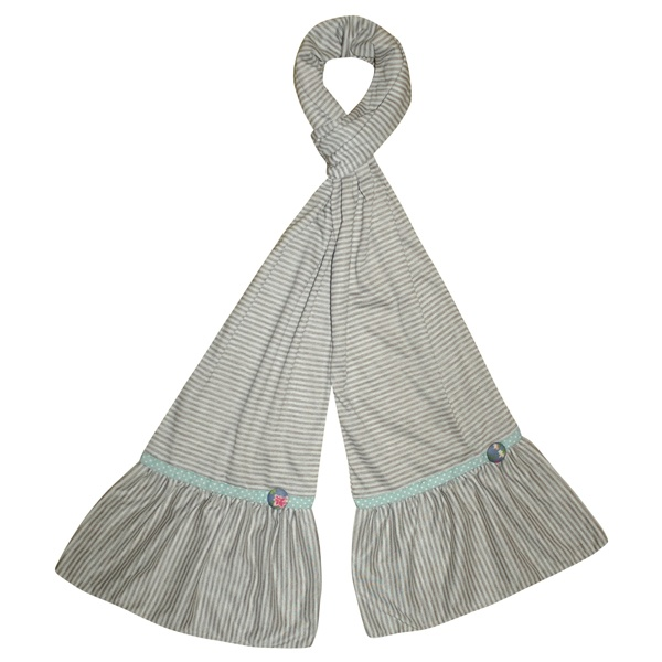 Stripe Jersey Scarf - Taupe