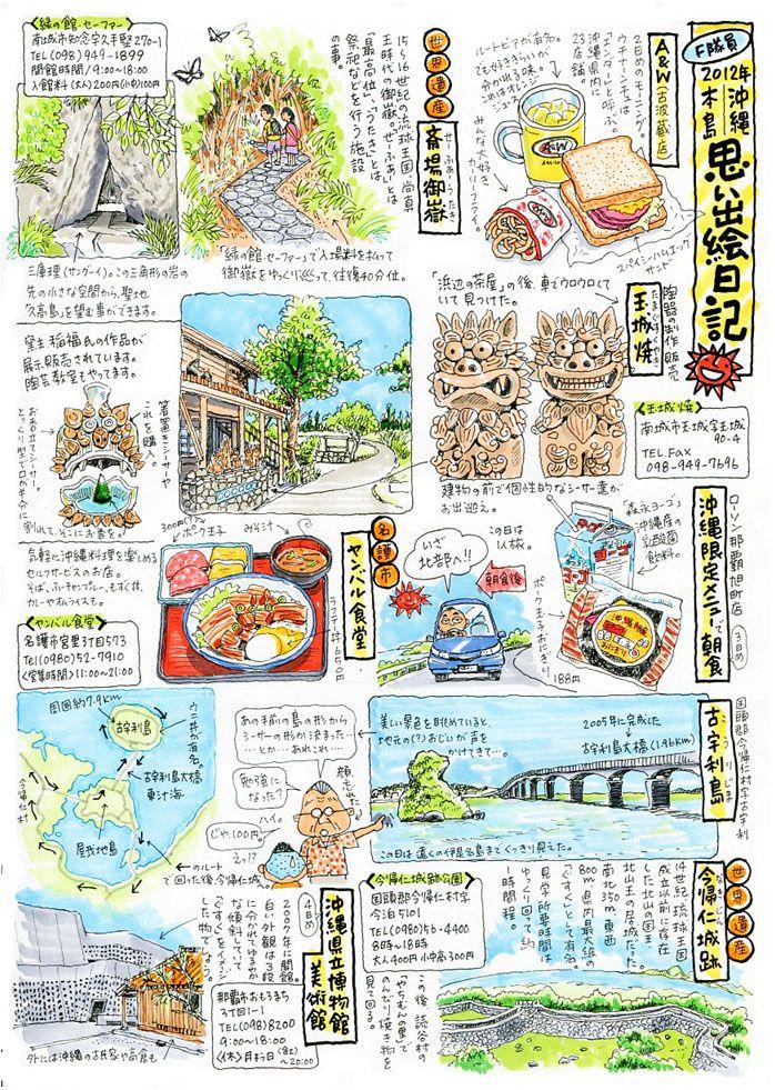沖縄絵日記 OKINAWA JAPAN