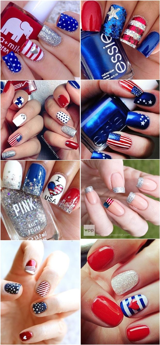 25 Fantastic 4th Of July Nail Art Styles | http://www.meetthebestyou.com/25-fantastic-4th-of-july-nail-art-styles/