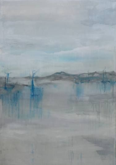 "Saatchi Art Artist Monika Vitanyi; Painting, ""Morning in lonely harbour"" #art"