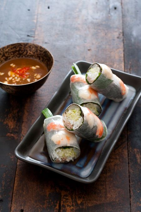 Rice paper rolls at Fat Noodle