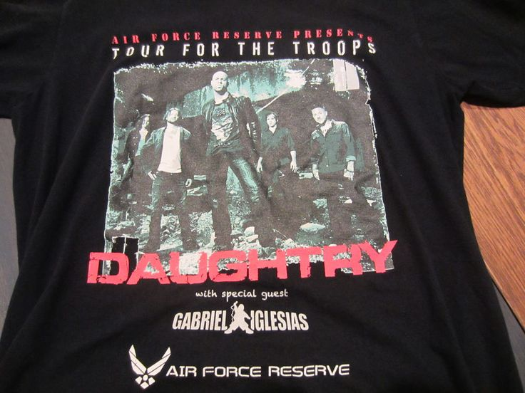 Chris Daughtry Air Force Reserve Tour for the Troops Tshirt Concert L 2011