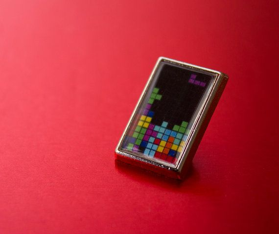 Awesome Little Tetris Gamers Tie/Lapel Pin by UnofficiallyOriginal