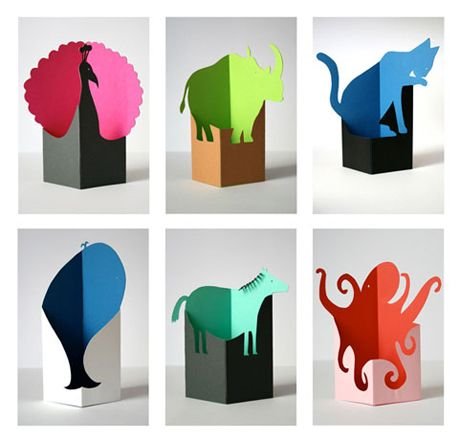 Felicitas Horstschäfer - Paper animals – I can see these as a leave behind for a graphic design job interview