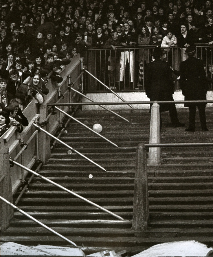 1970's Stretford End, Old Trafford, Manchester.