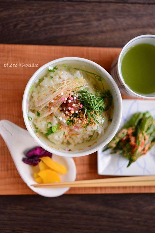 「冷たい梅茶漬け」 - 花ヲツマミニ